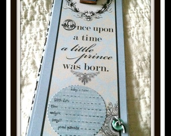 Premade Scrapbook/Album Once upon a Time a Prince was Born Baby Boy