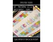 Quilt Pattern PDF Easter Eggs Applique Table Runner -- Scrap Friendly