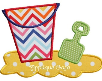 095 Beach Toys Machine Embroidery Applique Design