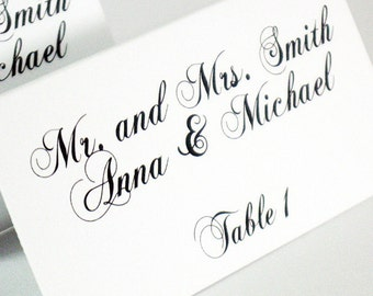 Tented Place Cards--Wedding Reception--Customize--Colors can be changed--Elegant Collection