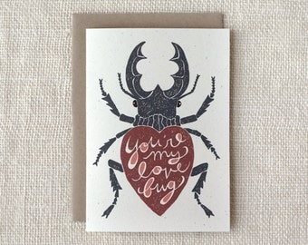 Anniversary Card, Love Card - Love Bug
