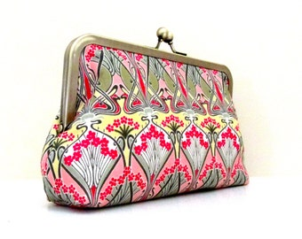 Liberty Art Nouveau CLUTCH PURSE - Handmade Liberty of London Tana Lawn by Cutie Girlie