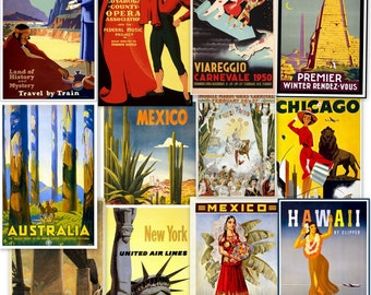 DVD Hi Res Art: 267 Vintage Travel TOURISM POSTERS Advertising Vol 1 Italy Europe