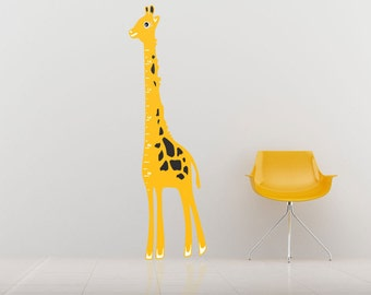 Children's Giraffe Height Chart Wall Stickers