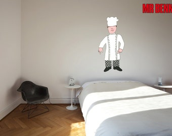 Mr Benn Chef Wall Stickers