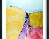 Marbled  painting  Marbled paper.italian  abstract marbling  19.5