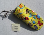 Padded Eyeglass / Sunglass Case - Bugs Bugs Bugs Colorful Print Padded Eyeglass Case specially for Kids or Young at Heart