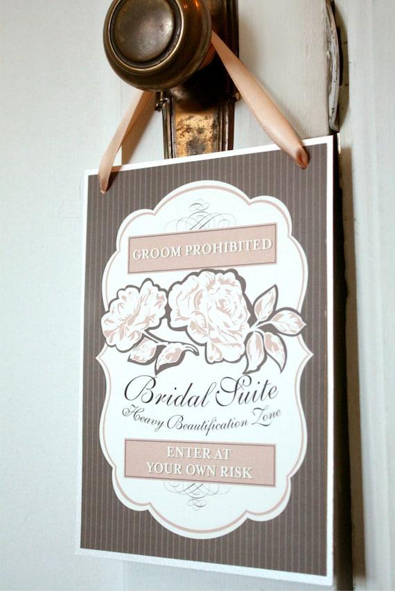 Bridal Suite Sign