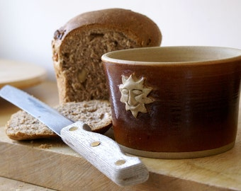Made to order - Sun and moon stoneware bread bakers in your choice of colour
