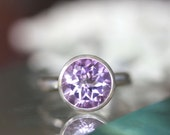 Rose De France Pink Amethyst Sterling Silver Ring, Gemstone Ring, In No Nickel / Nickel Free - Made To Order