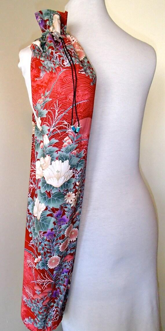 Yoga mat bag yoga mat tote yoga carrier Asian Floral Print