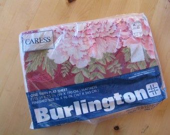 Vintage Flat Bed Sheet by Burlington