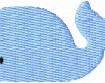 Whale 2 Mini Machine Embroidery Design