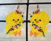 Easter duck earrings