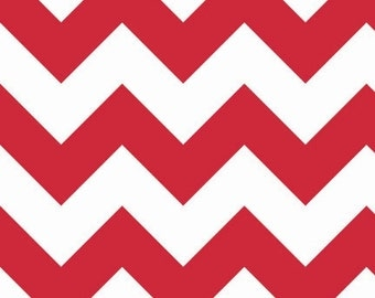 SALE - Riley Blake - Large Chevron in Red