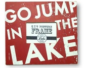 Go Jump in the Lake Rustic 5 x 7 Photo Frame 1603