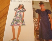 1996 Sewing Pattern Simplicity 9384 Girls Dress Jessica McClintock Princess Fit Flare