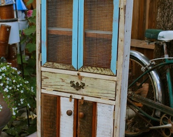 Rustic Home Decor - Reclaimed Wood Furniture - Cabinet - Handcrafted - Shabby - French Country Chic Decor