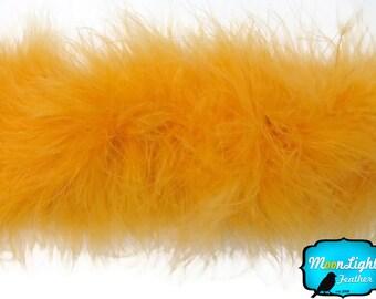 Marabou Boa, 2 YARDS - GOLDEN YELLOW Marabou Feather Boa 25 Gram : 126
