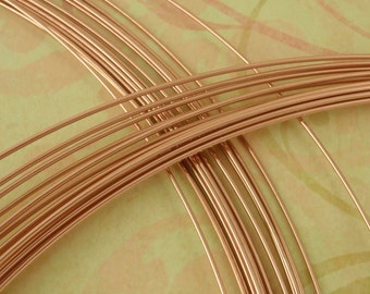 14kt Rose Gold Filled Wire - Half Hard  - 1/4 Troy ounce - You Pick the Gauge - 16 to 26