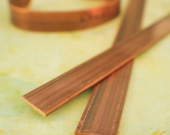 16 inches of Solid, Raw Copper Bracelet and Ring Stock - 12mm - 1/2 inch wide - 14 gauge - 100% Guarantee