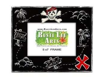 Pirate Treasure Map Picture Frame 5x7