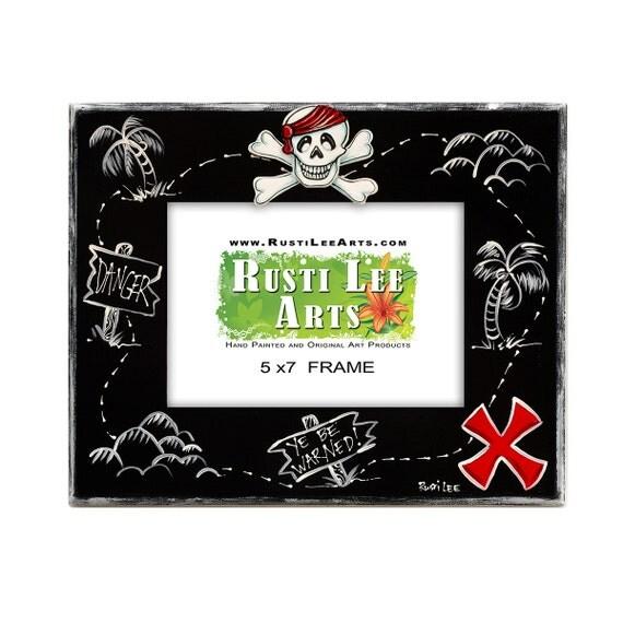 Pirate Treasure Map Picture Frame 5x7