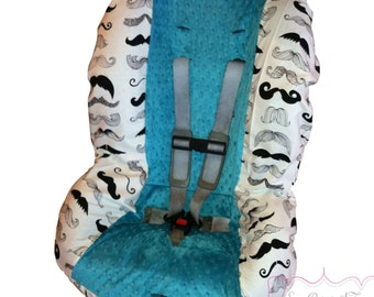 Toddler Car Seat Cover Where's My 'Stache