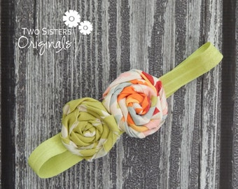 Double Rosette Headband - Made to match any dress or tie in our shop