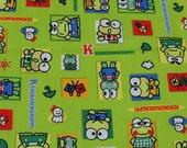 Retro Kwaii kero kero keroppi - Japanese fabric -2002