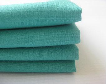 Cloth Napkins - Turquoise - 100% Cotton