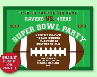 Superbowl invitation Etsy