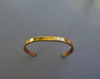 Brass Cuff Bracelet, Metal Stamping Supply