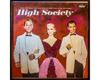 Glittered High Society Album with Frank Sinatra