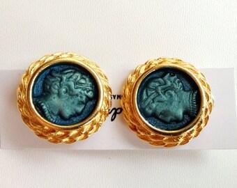 Cameo Clip Earrings