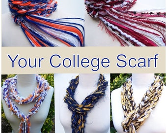 Graduation Gift, University Scarf, College Scarf, Crochet Scarf, Women's Scarves
