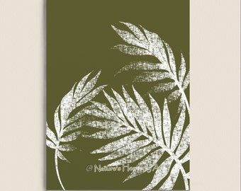 Wall Art Print Pick Your Colors Tropical Palm Tree Leaf 5 X 7 Print