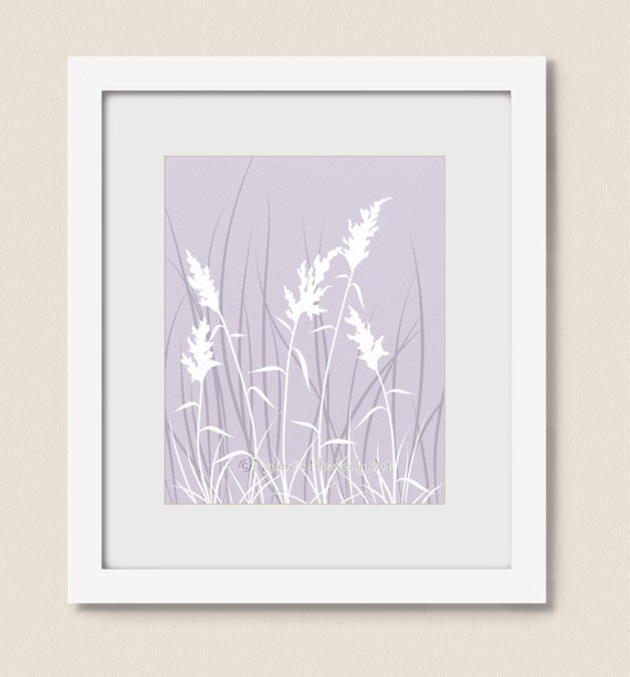 Nature wall art print 11 x 14 lavender purple living room for Living room 11 x 14