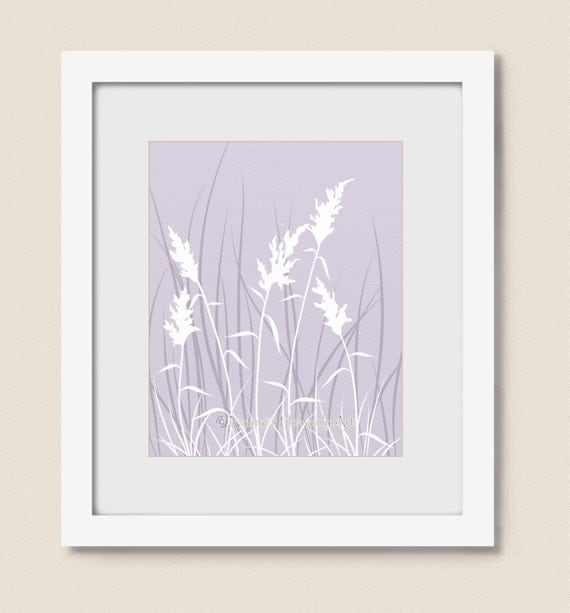 Nature wall art print 11 x 14 lavender purple living room for 11 x 14 living room