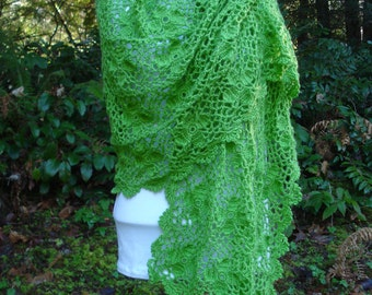 Crochet Pattern PDF - 'Dogwood Flower Motif' Wrap - PW-103