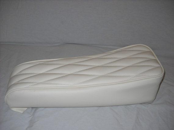 Mini Bike Seat Upholstery White Diamonds