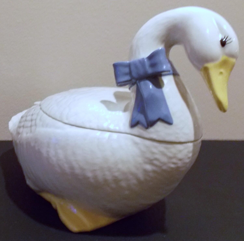 Sale Vintage Goose Cookie Jar By Artbythepond On Etsy