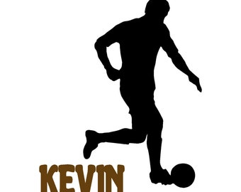 Soccer decal-Personalized decal-Soccer sticker-Sports decal-Personalized sticker-24 X 29 inches