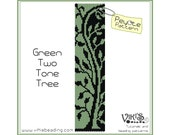 Peyote pattern for bracelet: Green Two Tone Tree INSTANT DOWNLOAD pdf - Multibuy savings with coupon codes