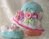 Baby Hats Knitting Knit Baby Hat Knitted Baby hats Beanie Knit Baby Hats Cotton Knitted Baby Bonnet Hand Knitted Baby Clothing Easter Bonnet