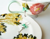 Katie Bows and Keys Earrings - MInt