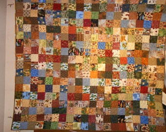 Queen size Bed Quilt Up North Hunting wild life 96