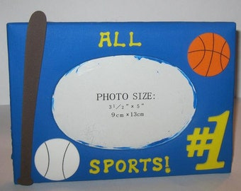 Blue Sports Altered Photo Frame