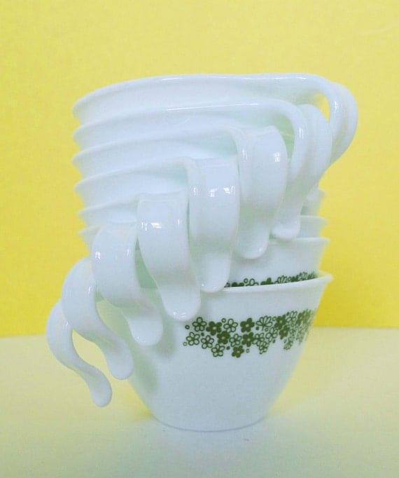 8 Corelle Spring Blossom Coffee or Tea Mugs