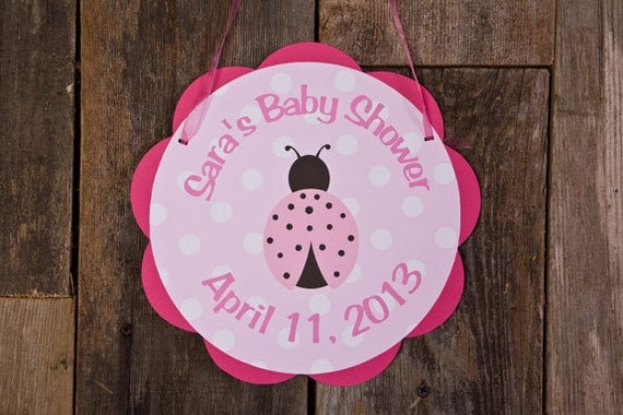 Items similar to ladybug door sign baby shower party for Baby shower door decoration